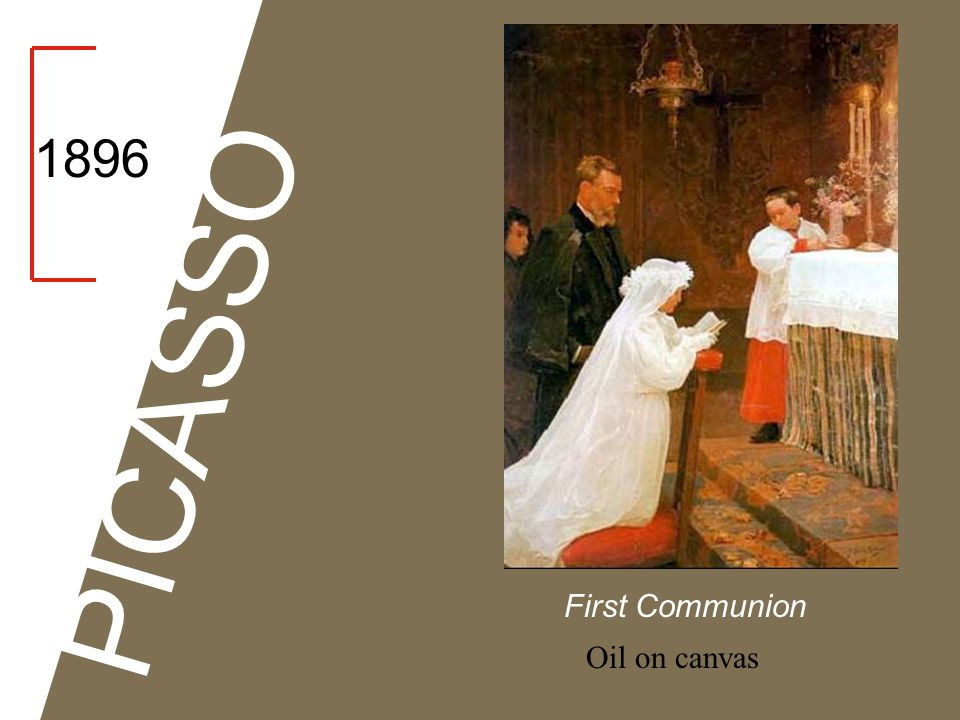 1896 PICASSO First Communion Oil on canvas