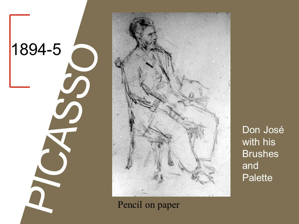 1894-5 PICASSO Don José with his Brushes and Palette Pencil on paper