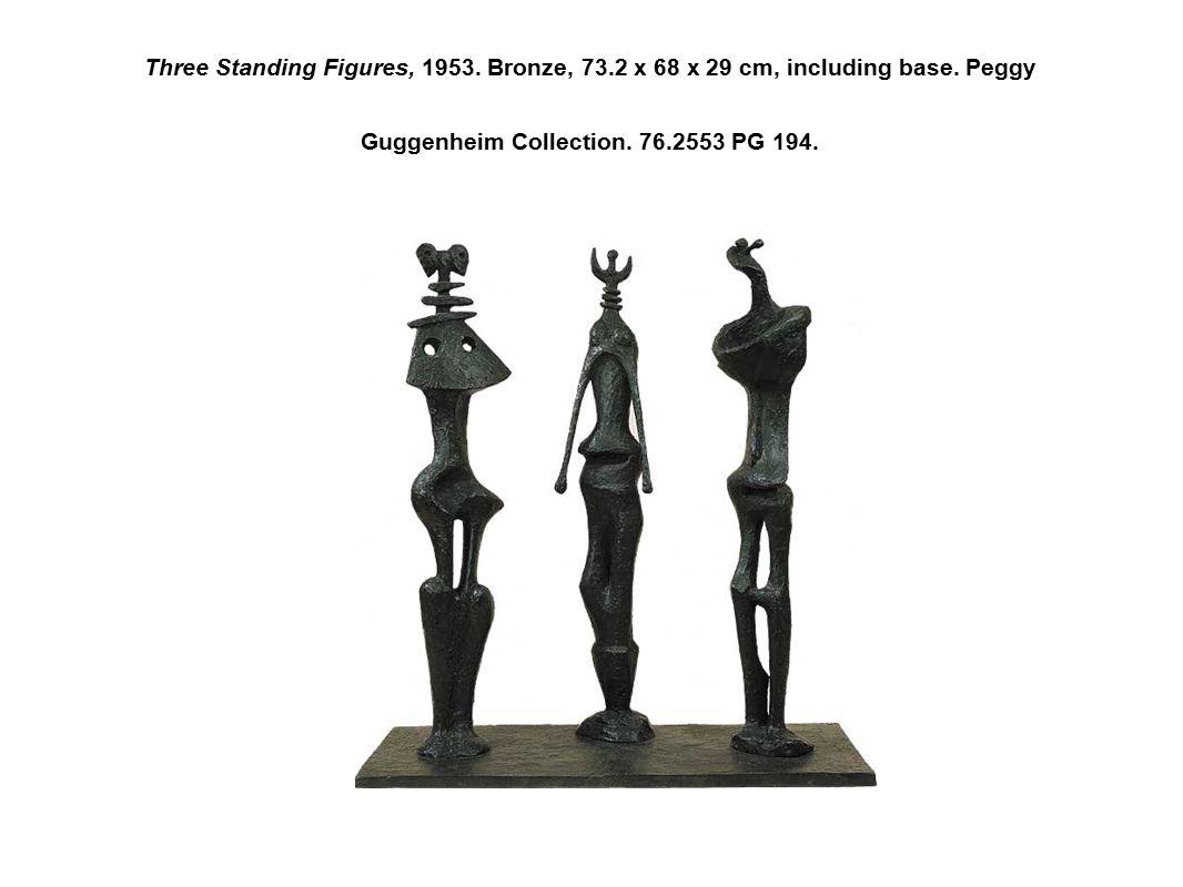 Three Standing Figures, 1953. Bronze, 73