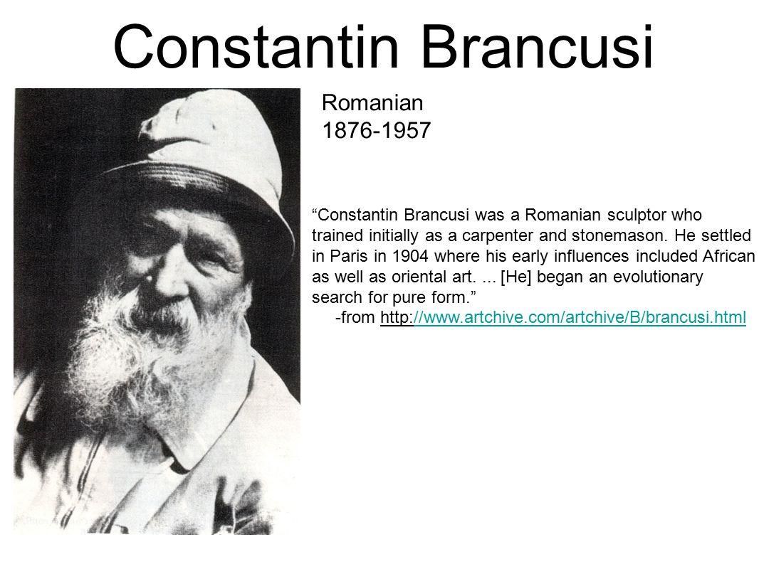Constantin Brancusi Romanian 1876-1957