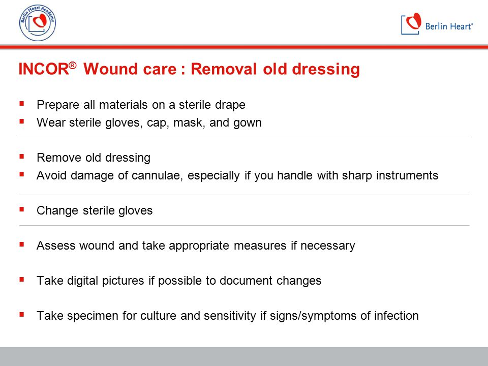 INCOR® Wound care : Removal old dressing