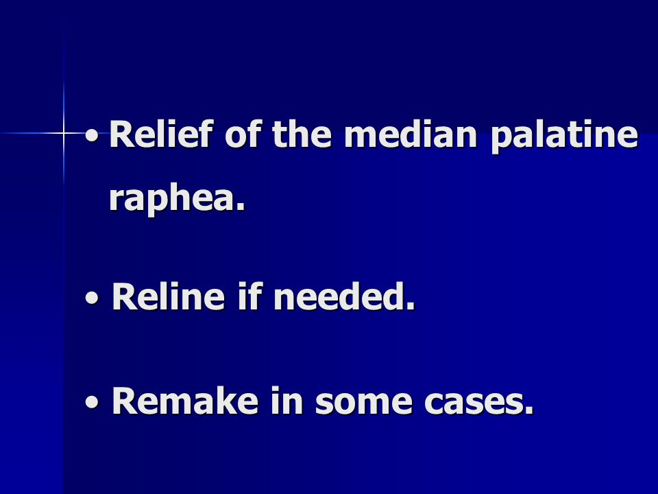 Relief of the median palatine raphea.