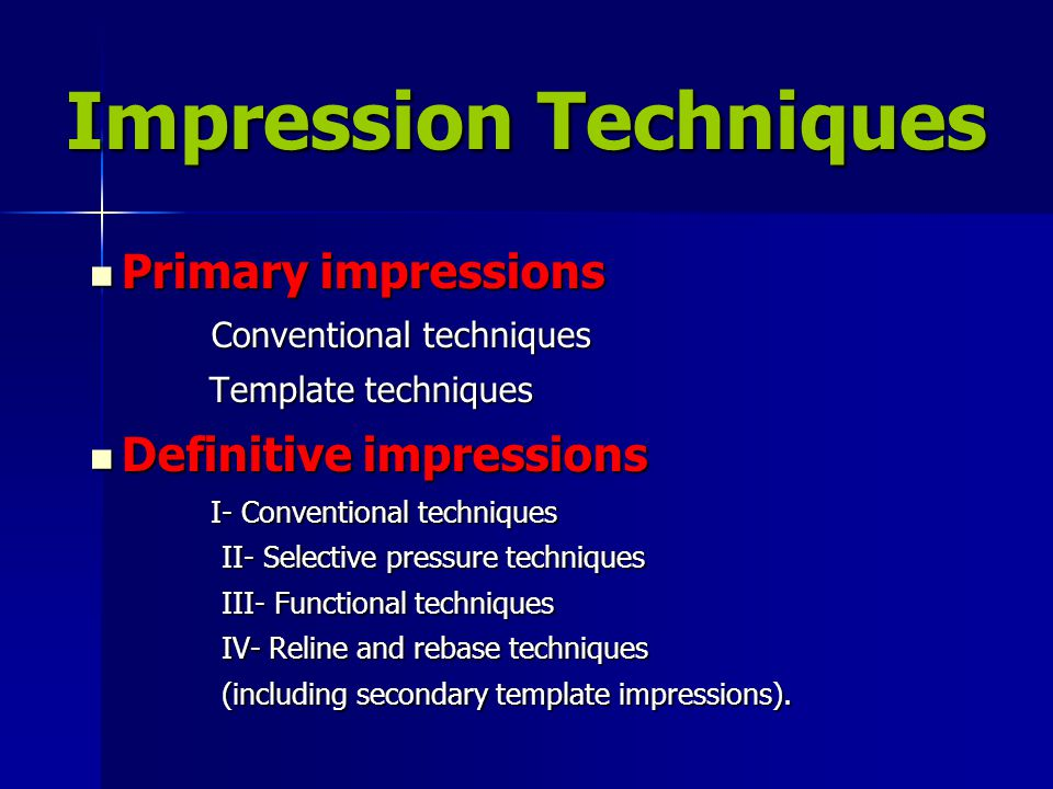Impression Techniques
