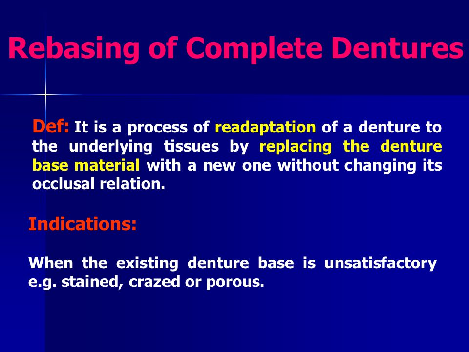 Rebasing of Complete Dentures