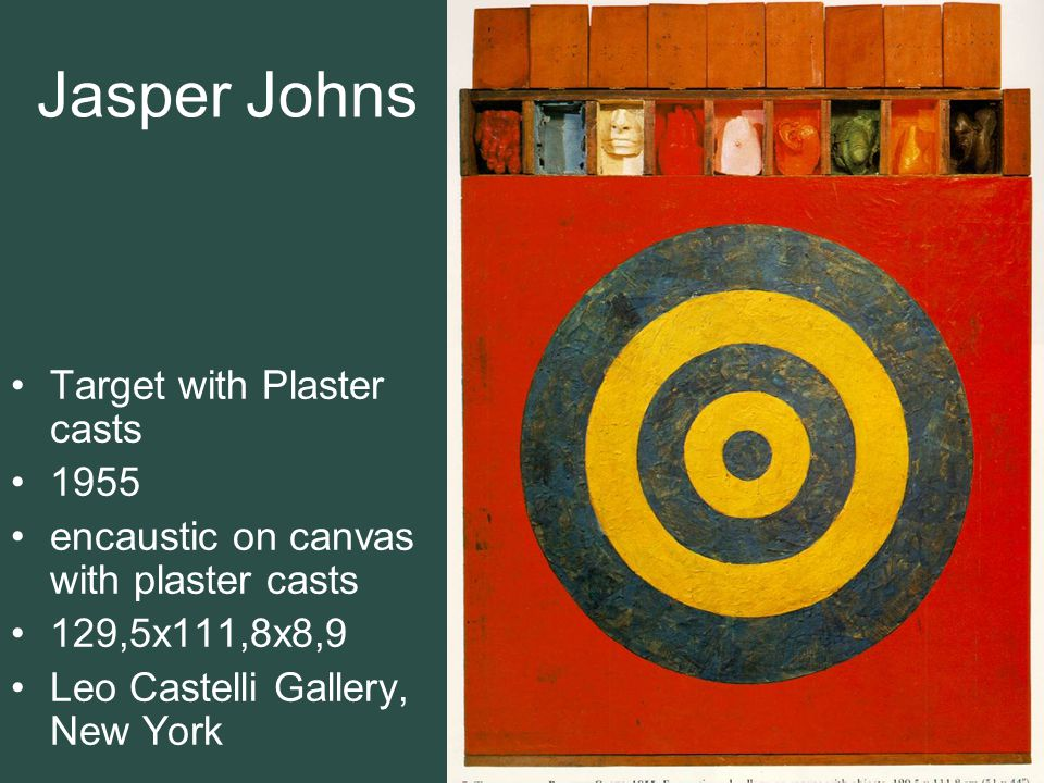 Jasper Johns Target with Plaster casts 1955