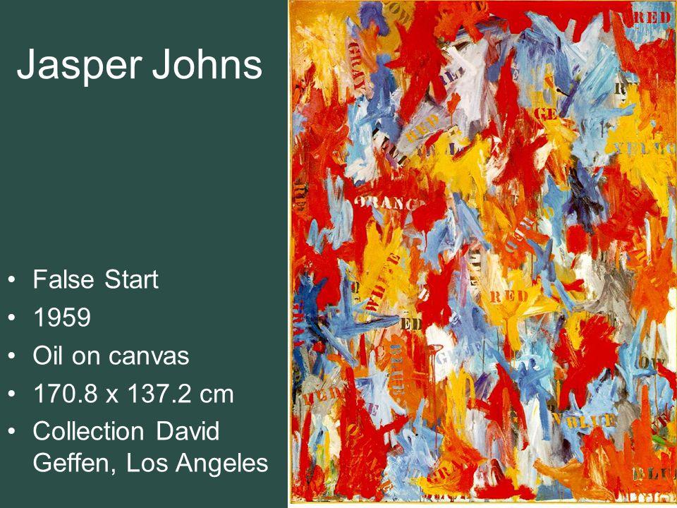 Jasper Johns False Start 1959 Oil on canvas 170.8 x 137.2 cm
