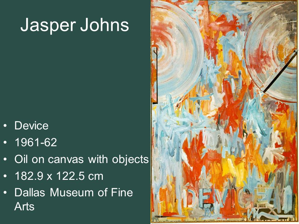 Jasper Johns Device 1961-62 Oil on canvas with objects