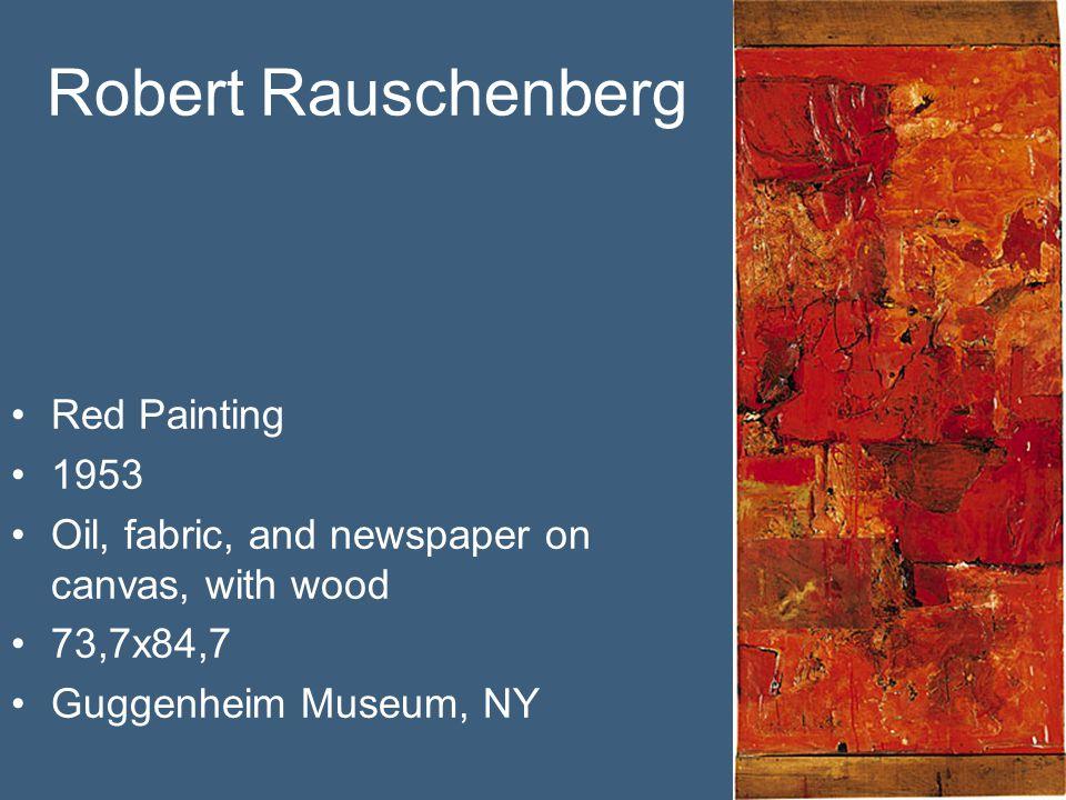 Robert Rauschenberg Red Painting 1953