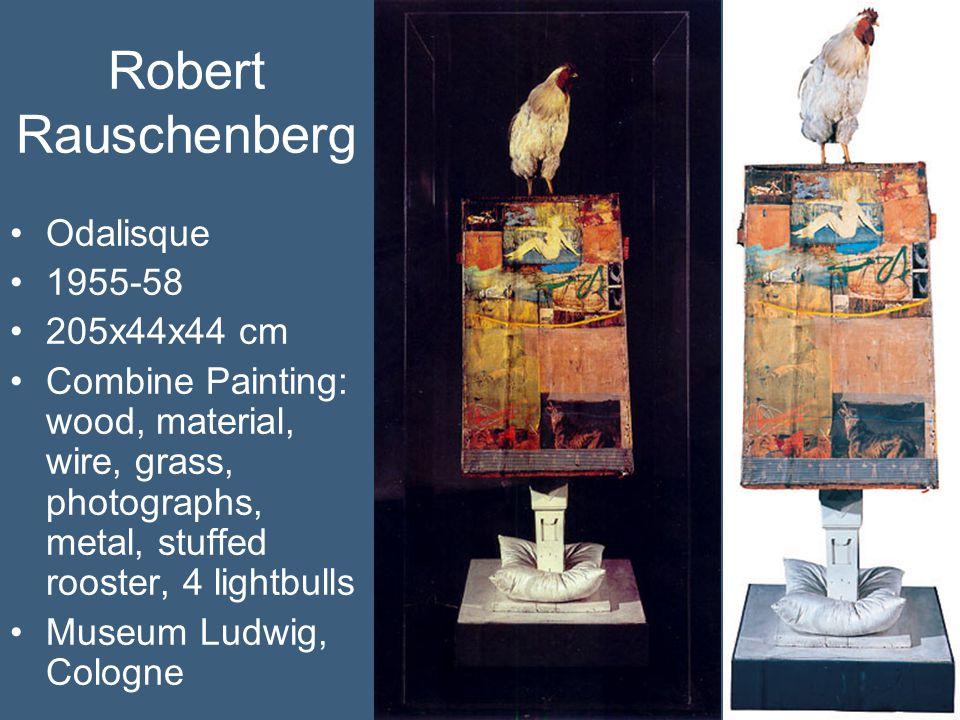 Robert Rauschenberg Odalisque 1955-58 205x44x44 cm