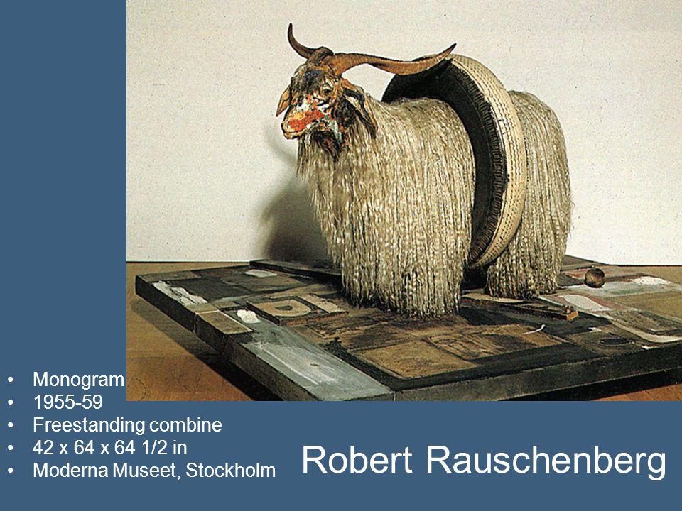 Robert Rauschenberg Monogram 1955-59 Freestanding combine