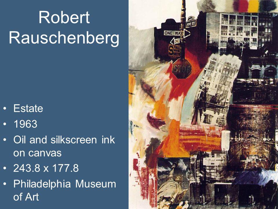 Robert Rauschenberg Estate 1963 Oil and silkscreen ink on canvas