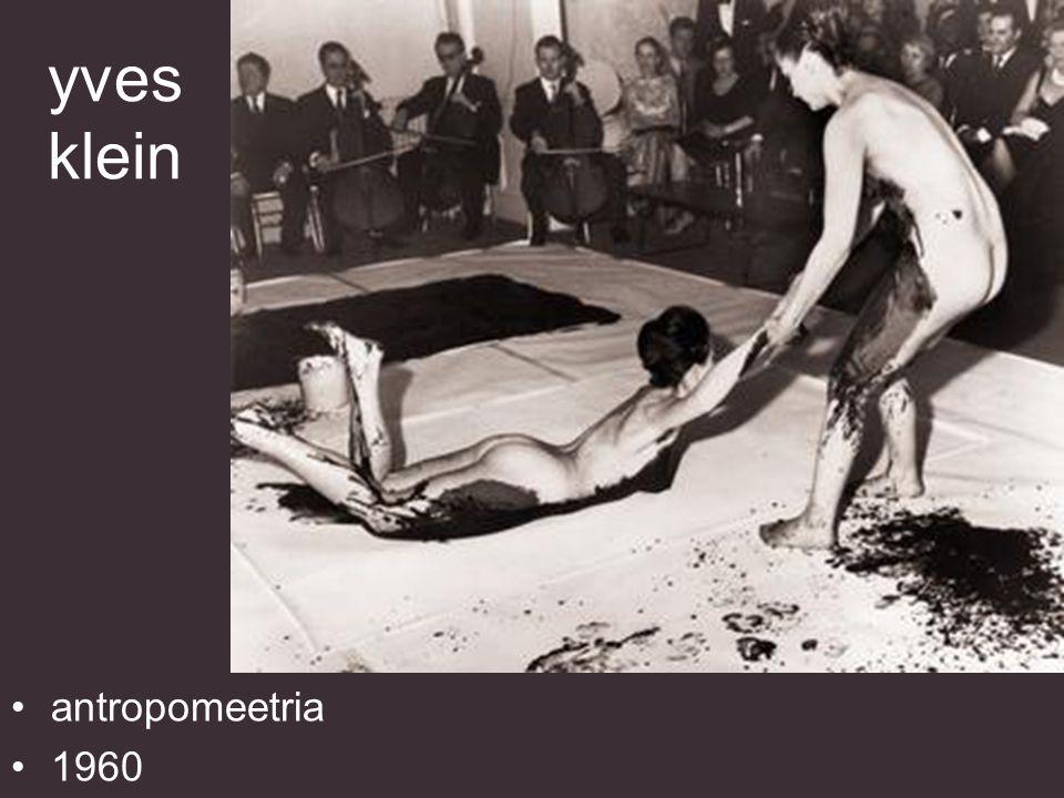 yves klein antropomeetria 1960
