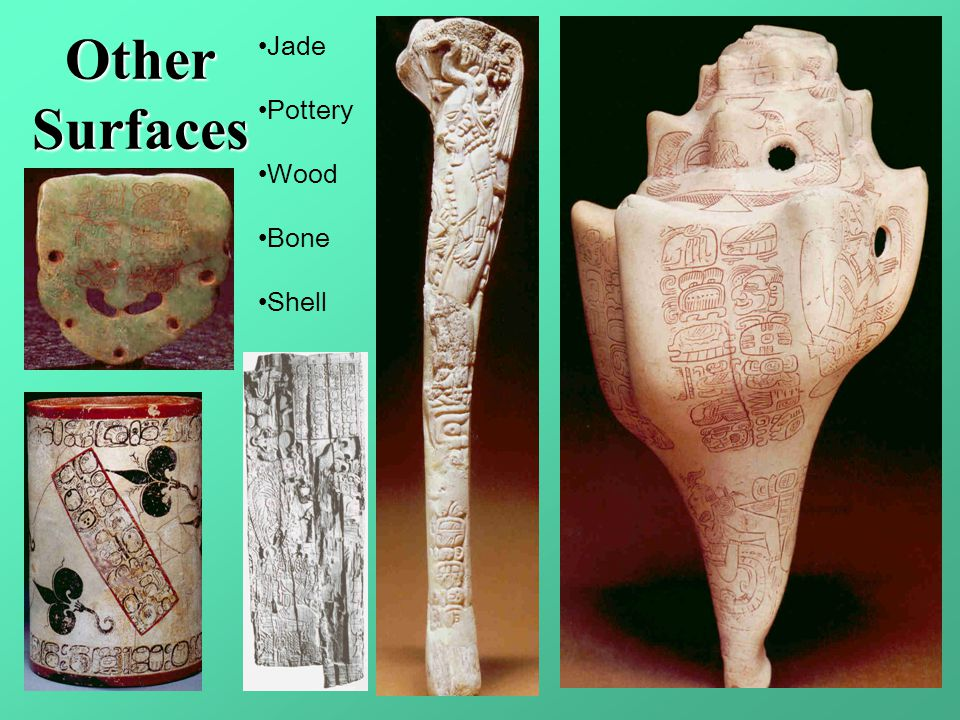 Other Surfaces Jade Pottery Wood Bone Shell