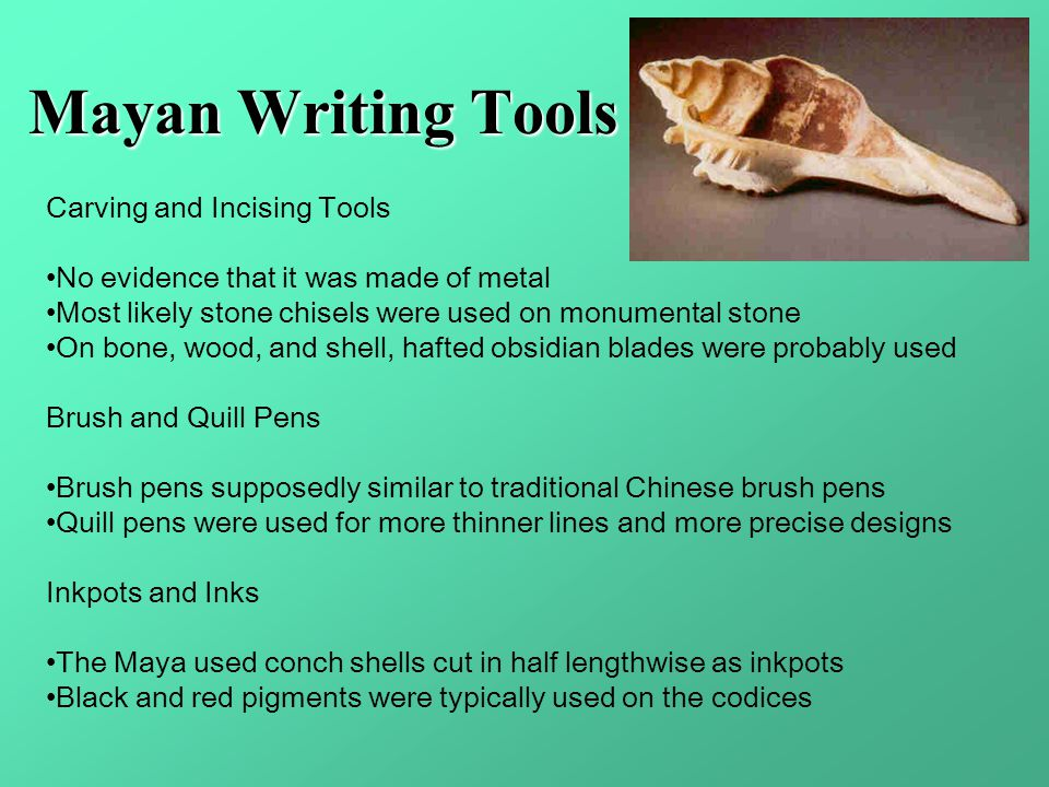 Mayan Writing Tools Carving and Incising Tools