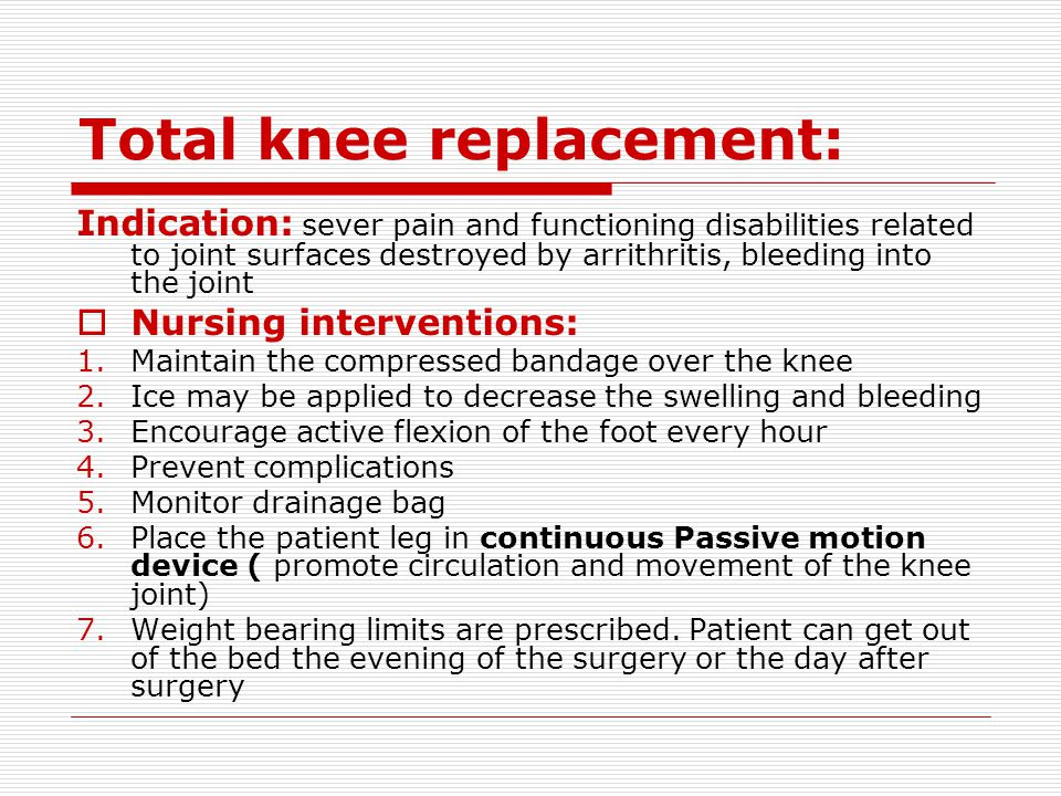 Total knee replacement: