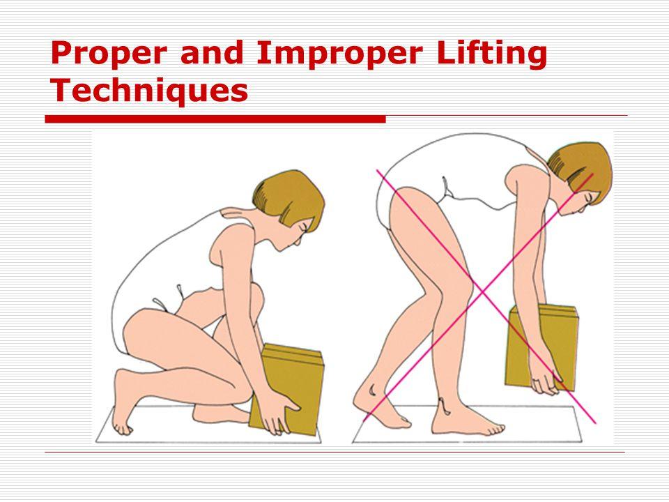 Proper and Improper Lifting Techniques