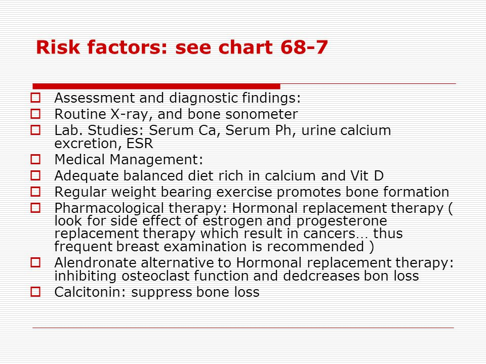 Risk factors: see chart 68-7