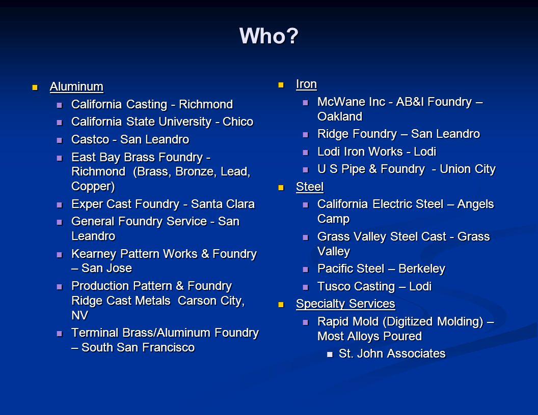 Who Iron Aluminum McWane Inc - AB&I Foundry – Oakland