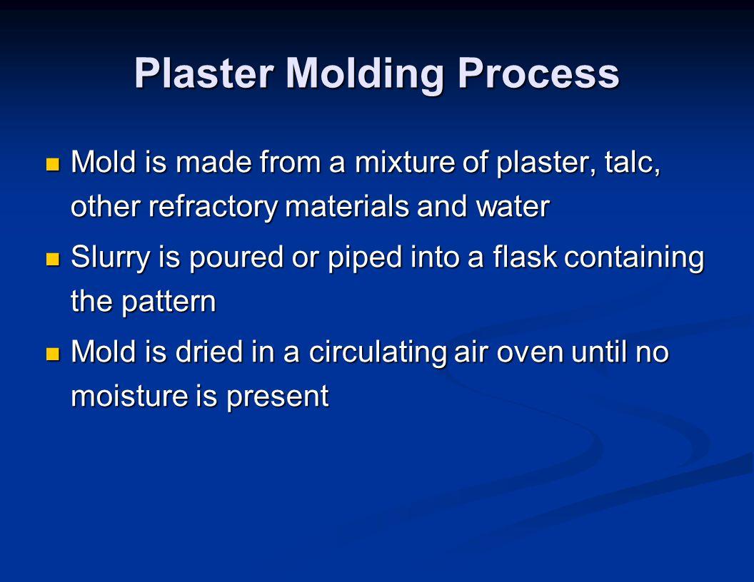 Plaster Molding Process
