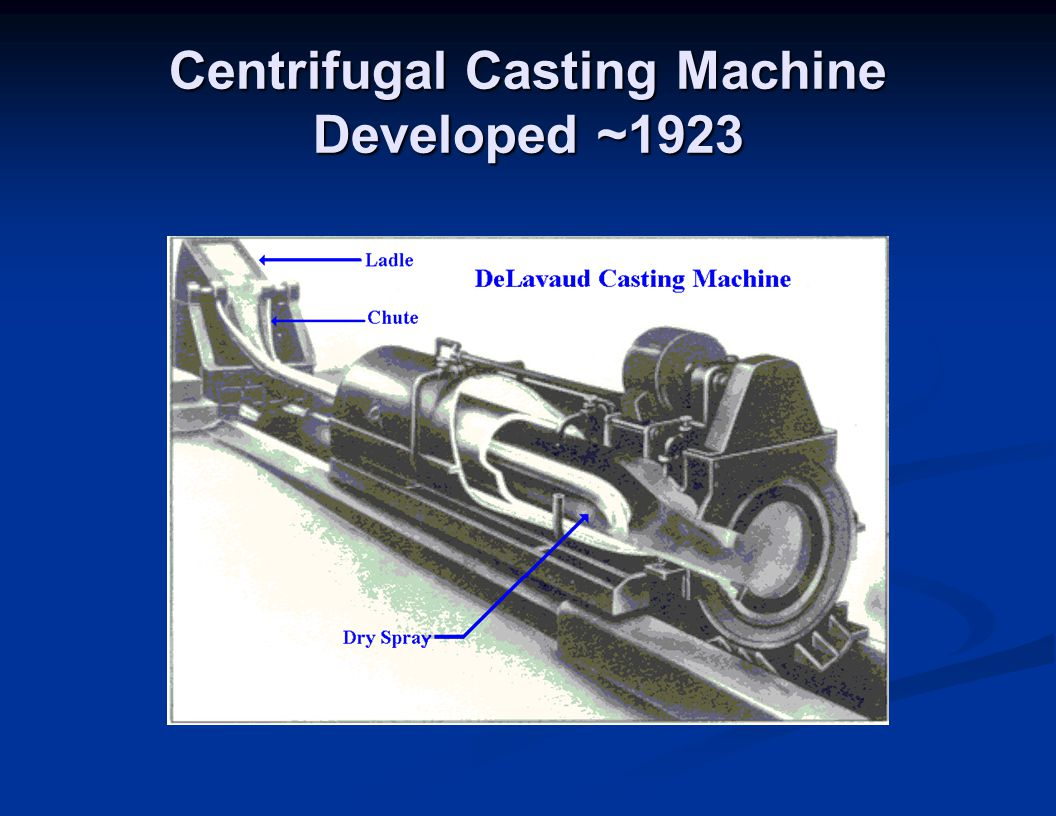 Centrifugal Casting Machine Developed ~1923