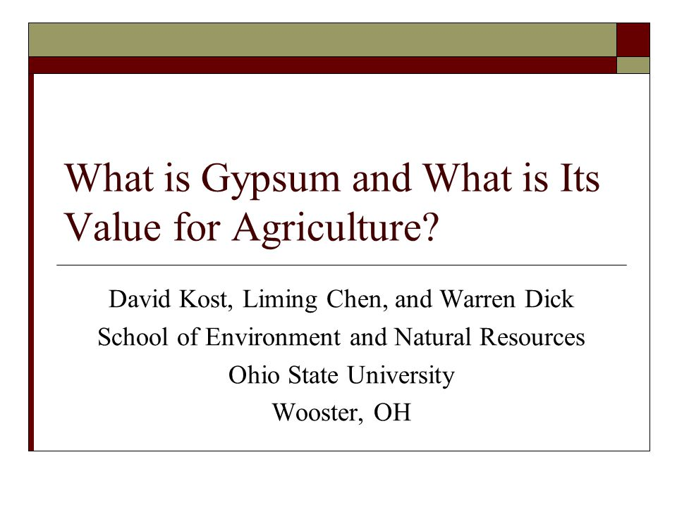 What is Gypsum and What is Its Value for Agriculture