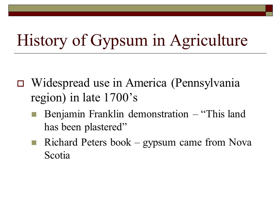 History of Gypsum in Agriculture