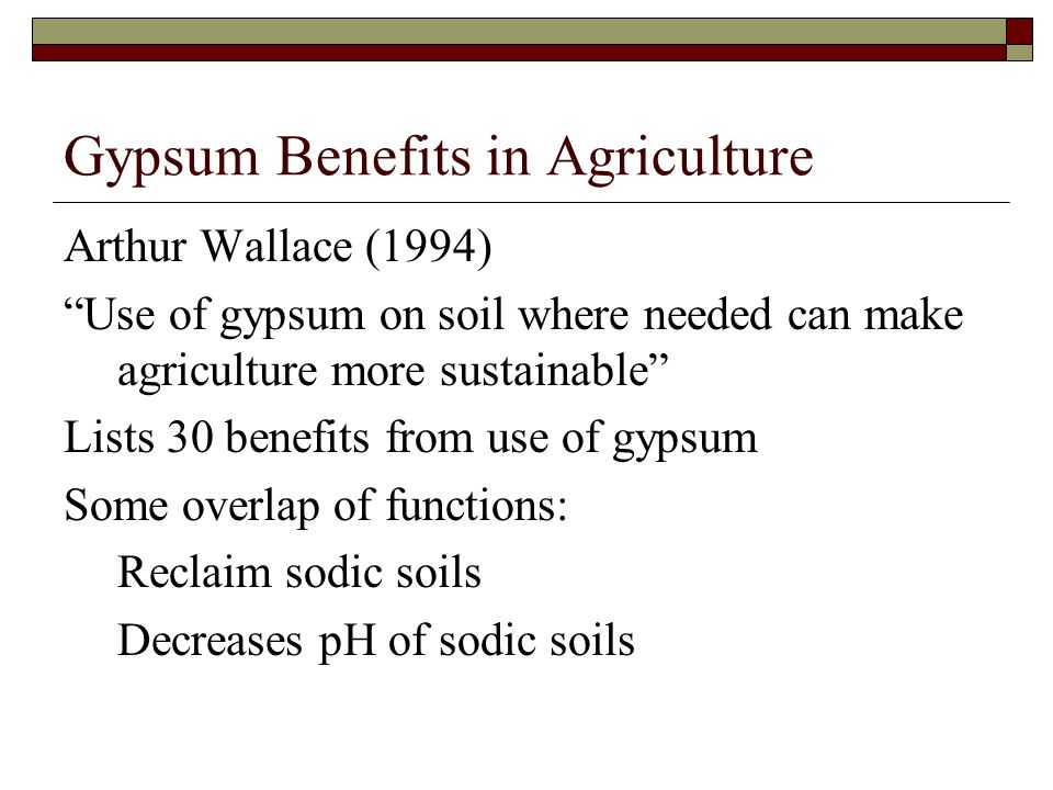 Gypsum Benefits in Agriculture