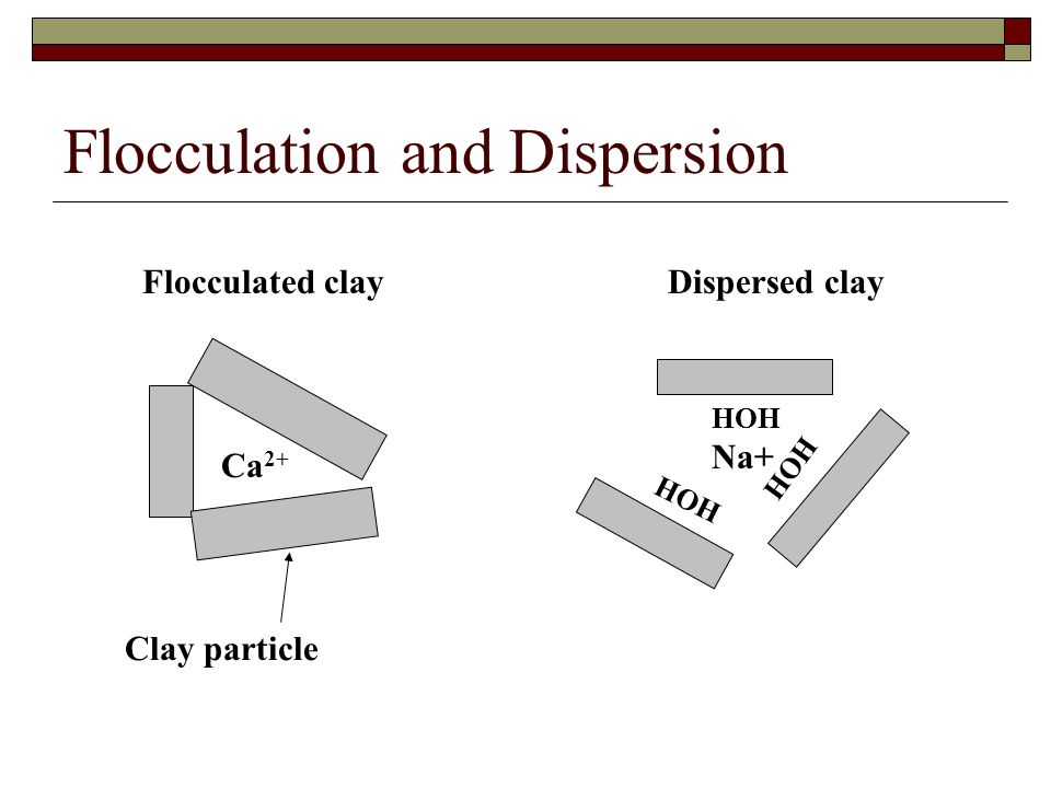 Flocculation and Dispersion