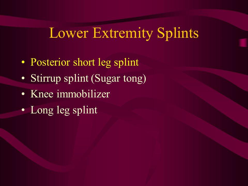 Lower Extremity Splints