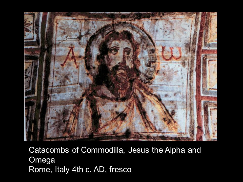 Catacombs of Commodilla, Jesus the Alpha and Omega Rome, Italy 4th c