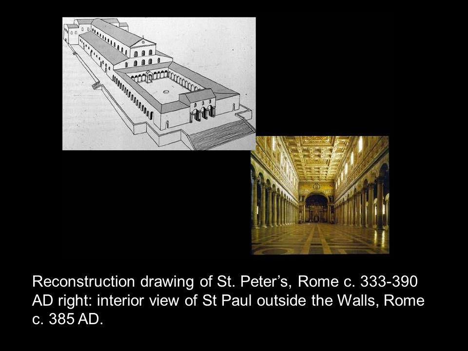 Reconstruction drawing of St. Peter's, Rome c