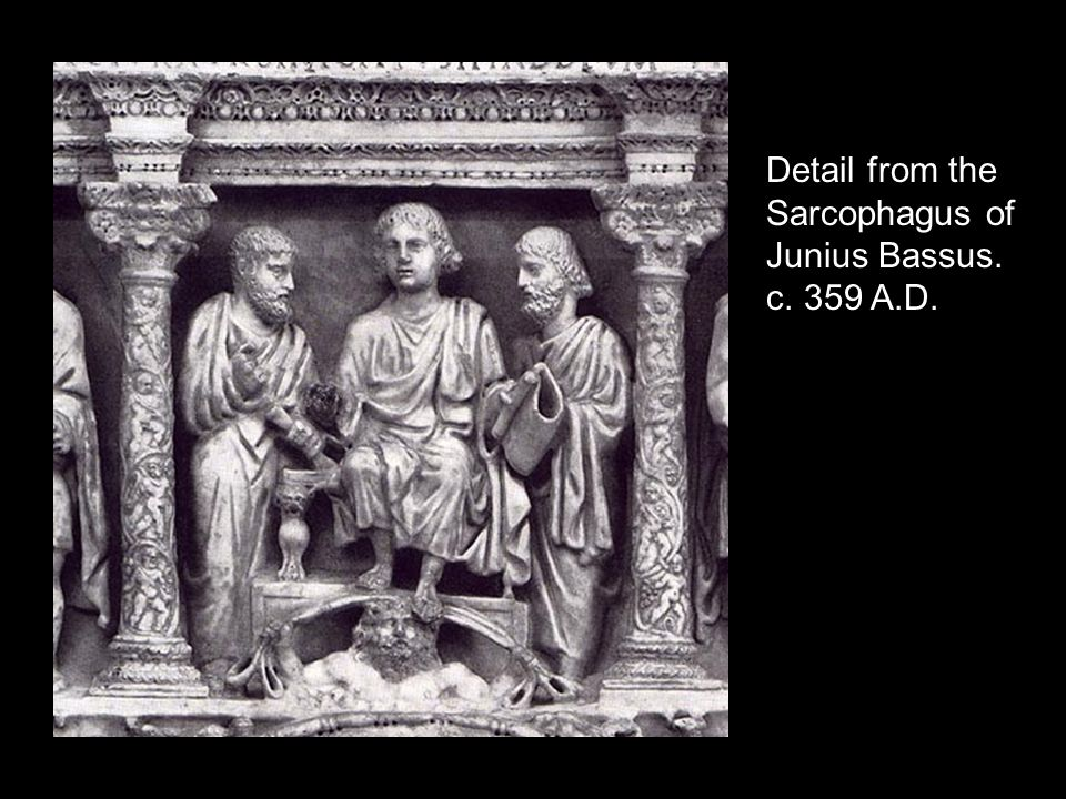 Detail from the Sarcophagus of Junius Bassus. c. 359 A.D.