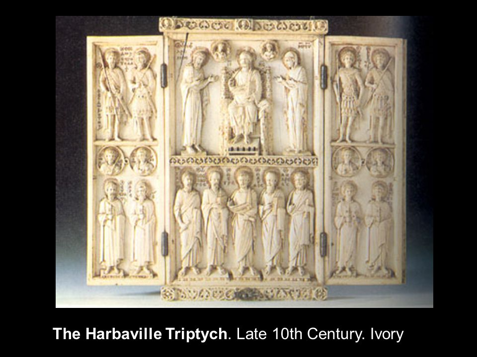 The Harbaville Triptych. Late 10th Century. Ivory