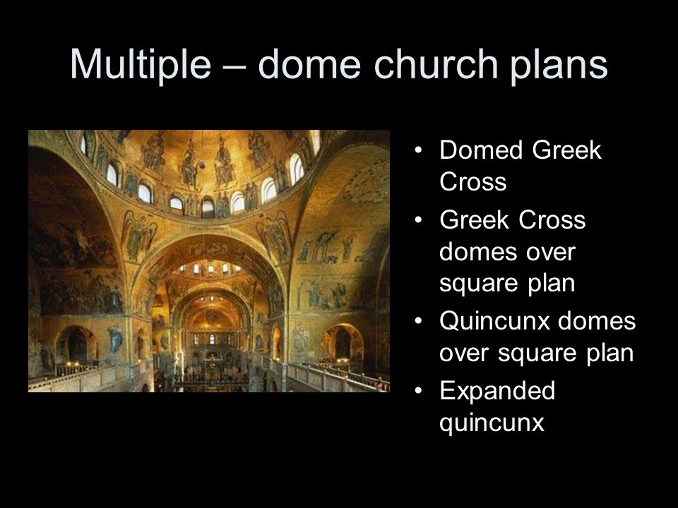 Multiple – dome church plans