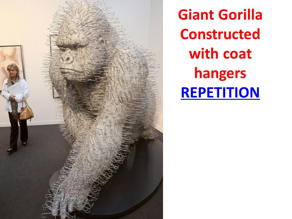 Giant Gorilla Constructed with coat hangers REPETITION
