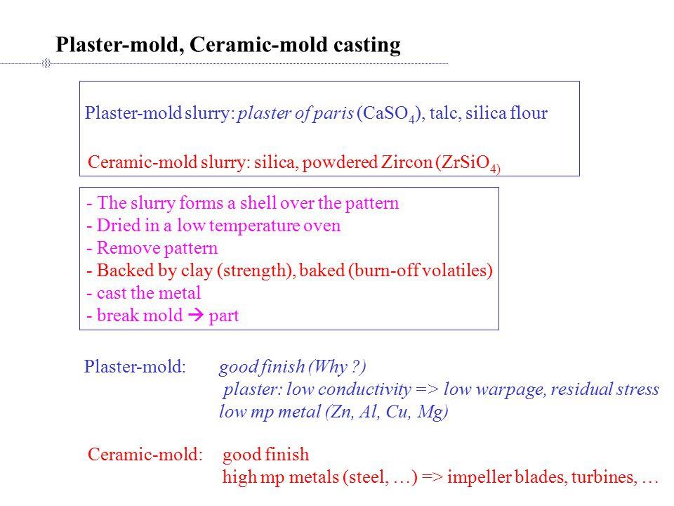 Plaster-mold, Ceramic-mold casting