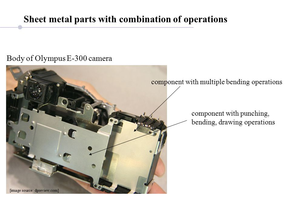 Sheet metal parts with combination of operations