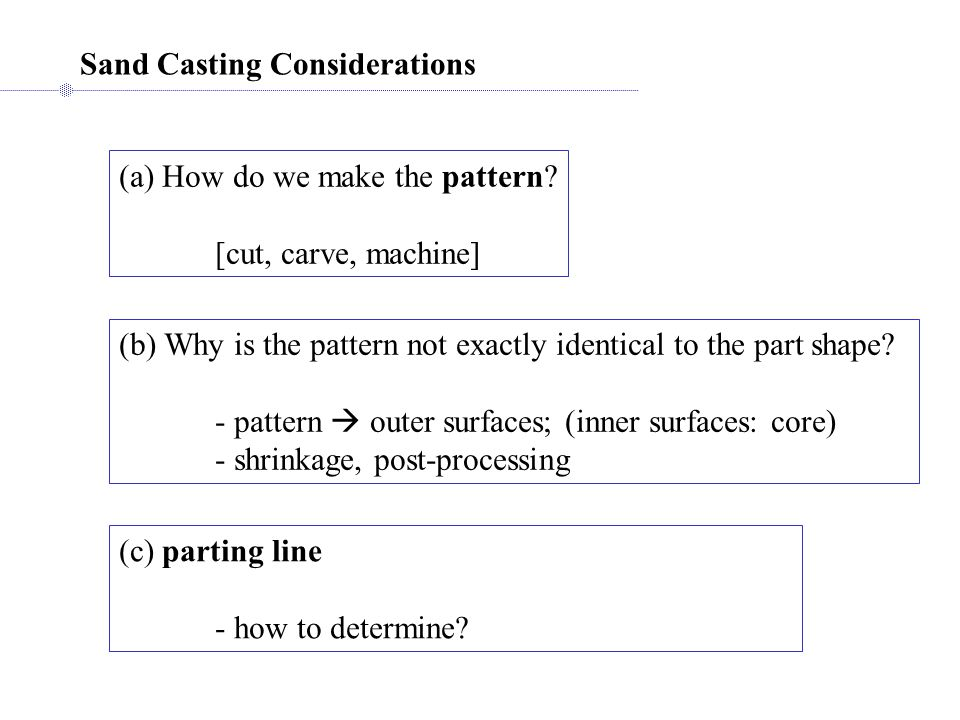 Sand Casting Considerations
