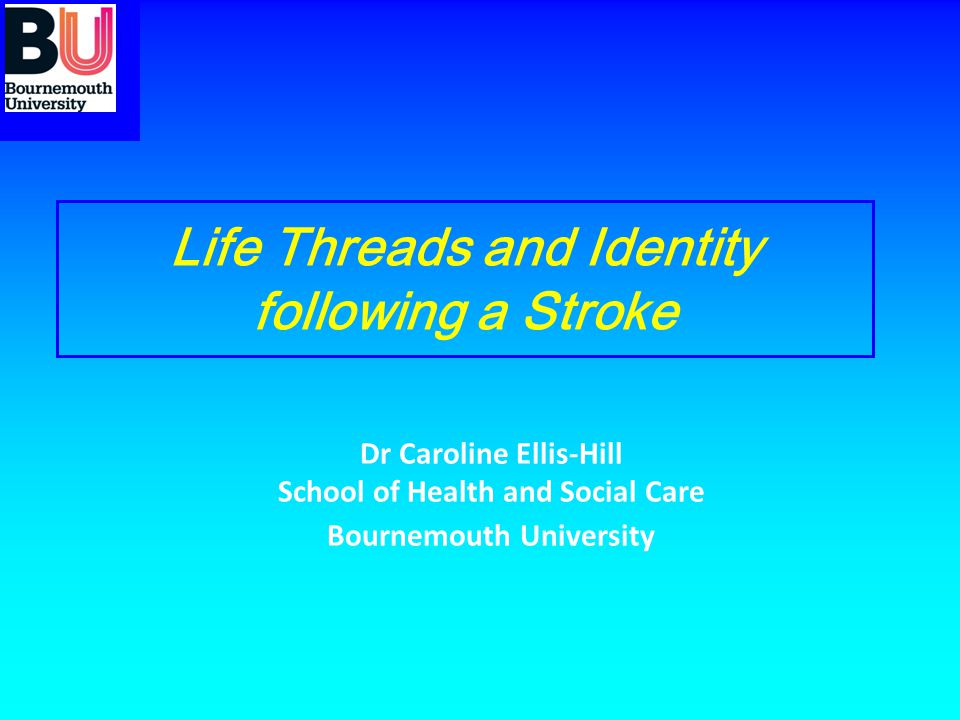 Life Threads and Identity following a Stroke