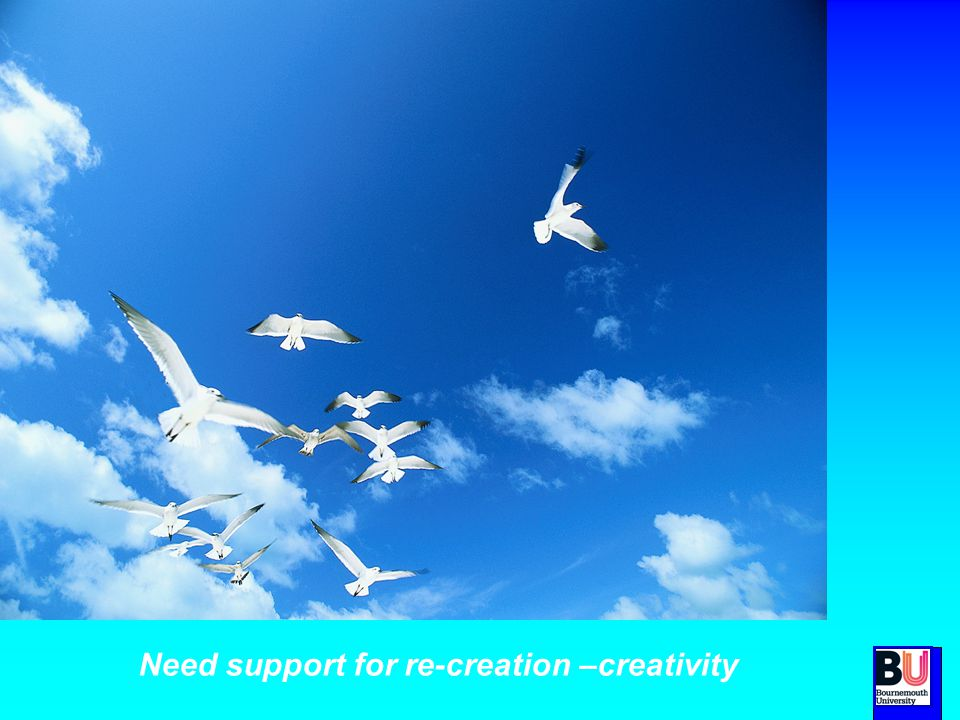 Need support for re-creation –creativity