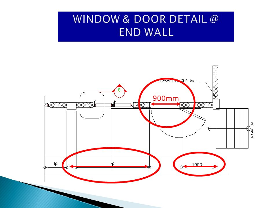 WINDOW & DOOR DETAIL @ END WALL