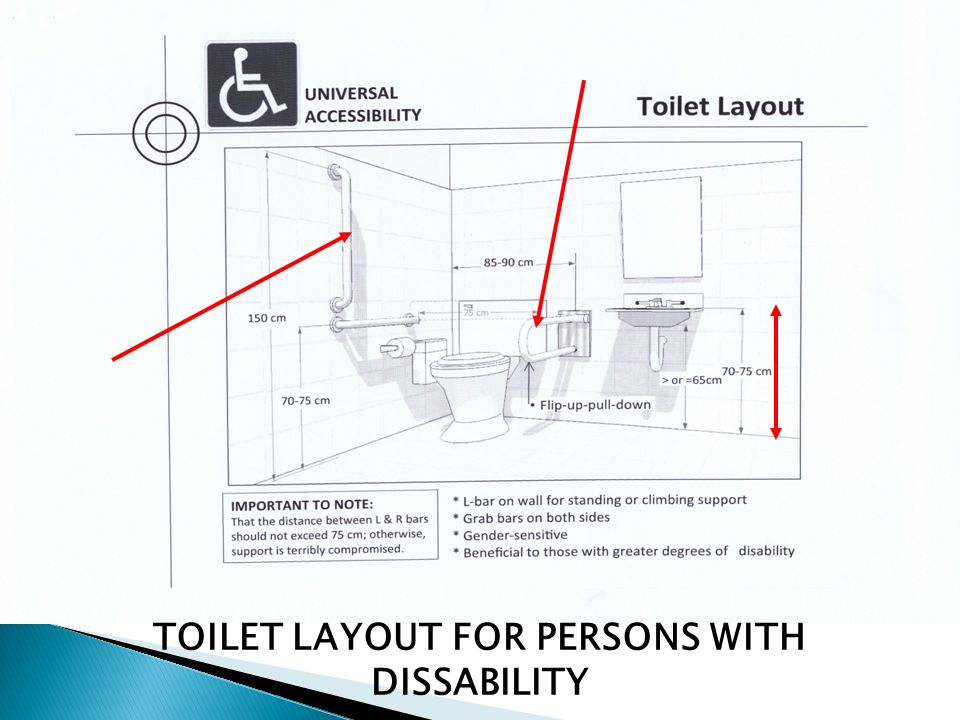 TOILET LAYOUT FOR PERSONS WITH DISSABILITY