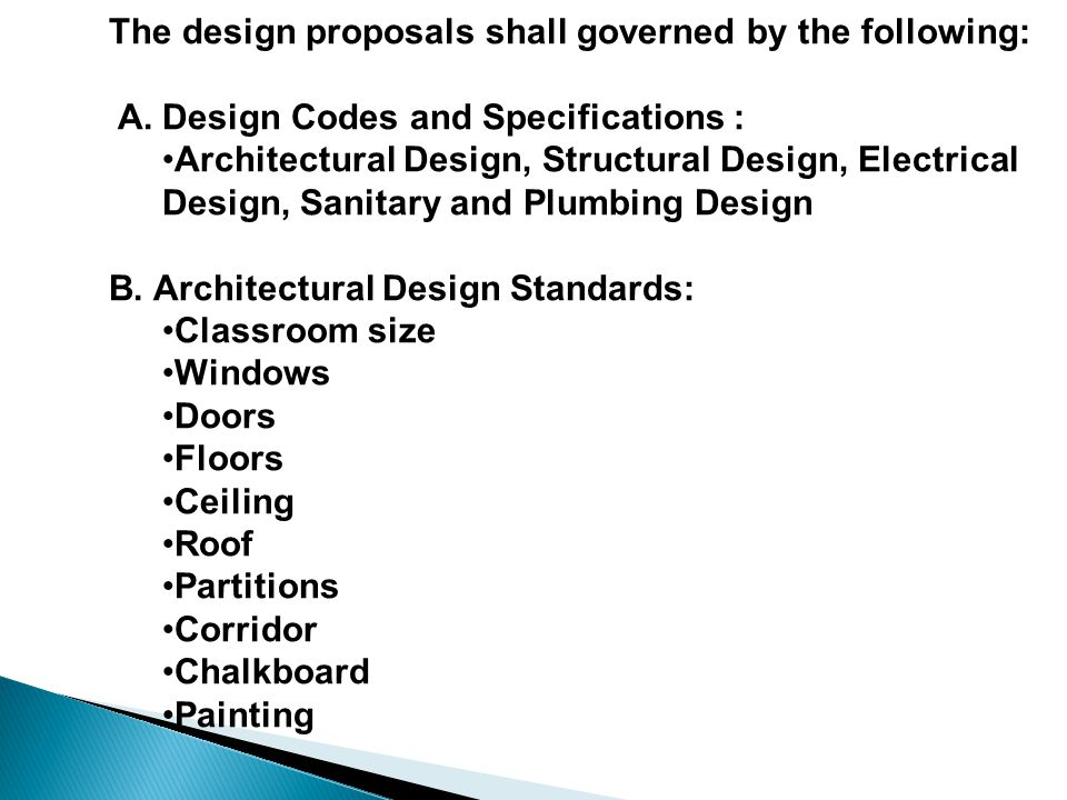 Classroom Design Specifications ~ School building program for basic education sbp be