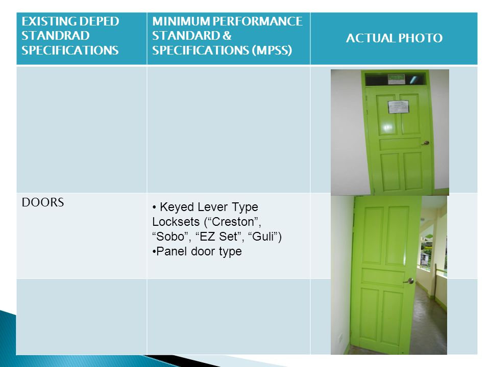EXISTING DEPED STANDRAD SPECIFICATIONS