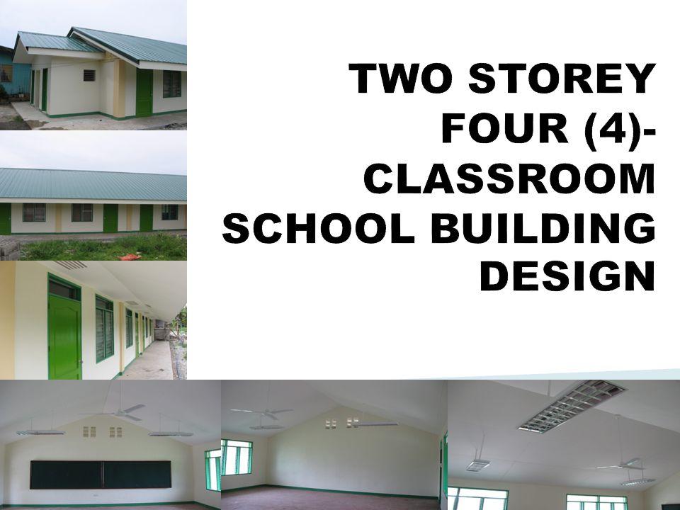 TWO STOREY FOUR (4)-CLASSROOM SCHOOL BUILDING DESIGN