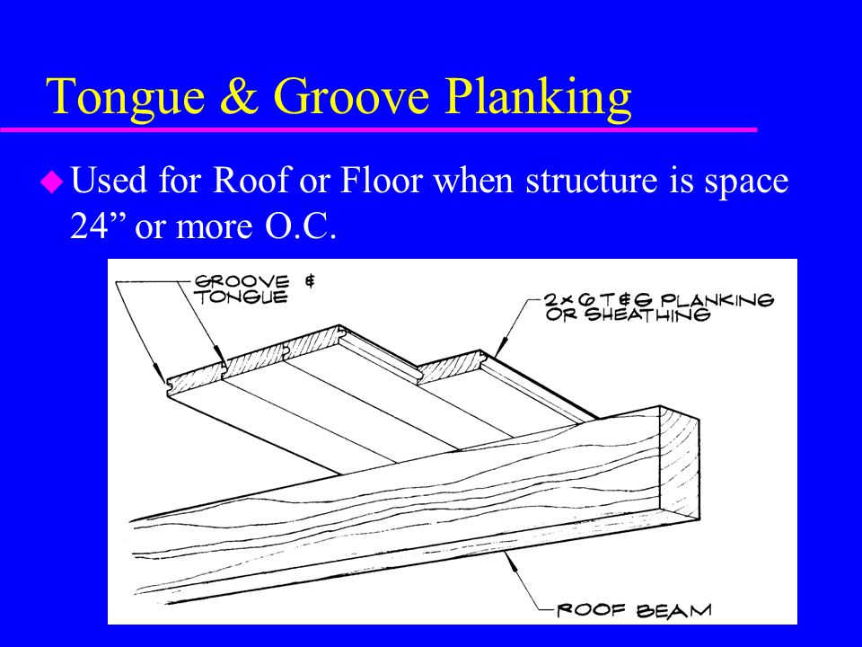 Tongue & Groove Planking