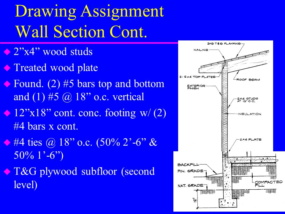 Drawing Assignment Wall Section Cont.