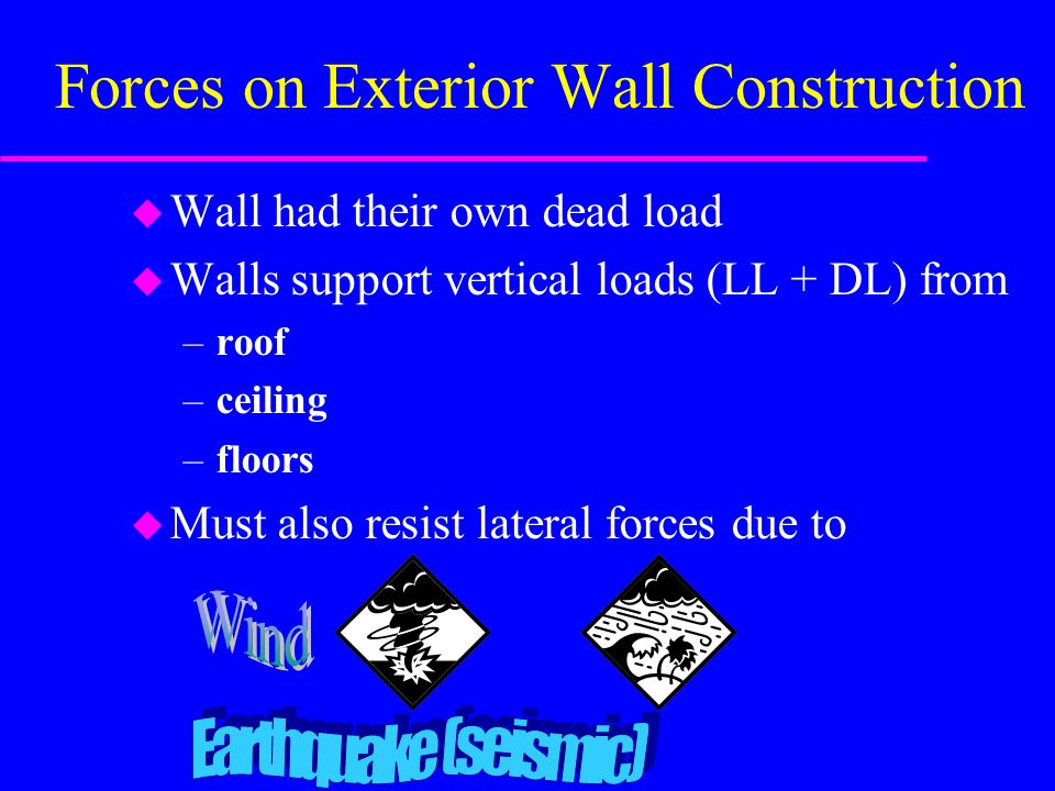 Forces on Exterior Wall Construction