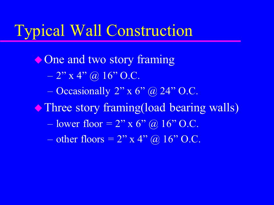 Typical Wall Construction