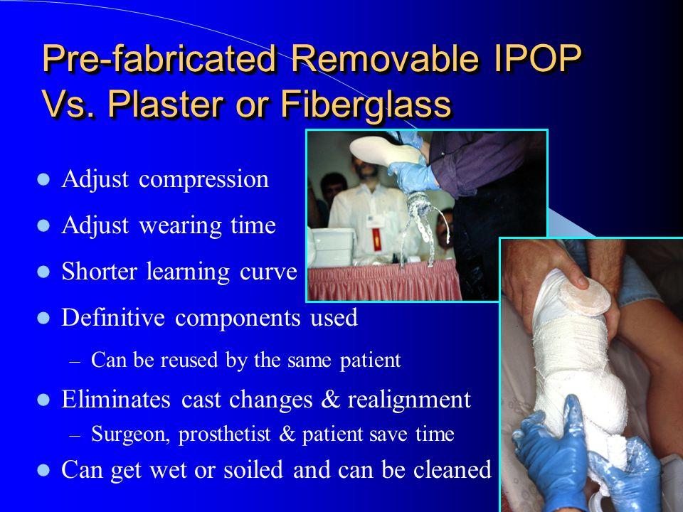 Pre-fabricated Removable IPOP Vs. Plaster or Fiberglass